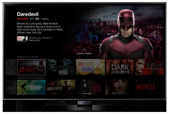 Netflix í flatskjá